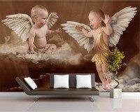 Beibehang personalizzato murales carta da parati felice angelo bambino bambini camera da letto sfondo muro 3d carta da parati papel de parede 3d
