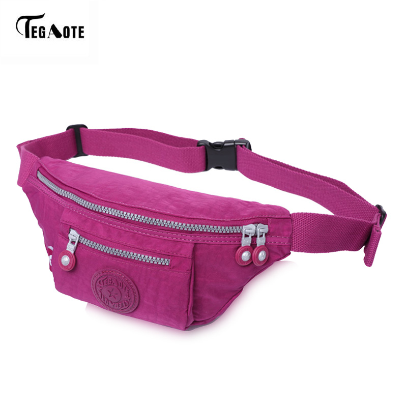 TEGAOTE Waterproof Waist Pack For Men Women Fashion Adjustable Fanny Pack Bum Bag Hip Money Belt Travel Mobile Phone Bags