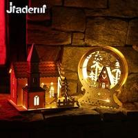 Jiaderuiクリスマスツリー装飾ledライトシャレーウッドハウスクリスマスの装飾ホームクリスマスギフト子供装飾ナヴィダード出生