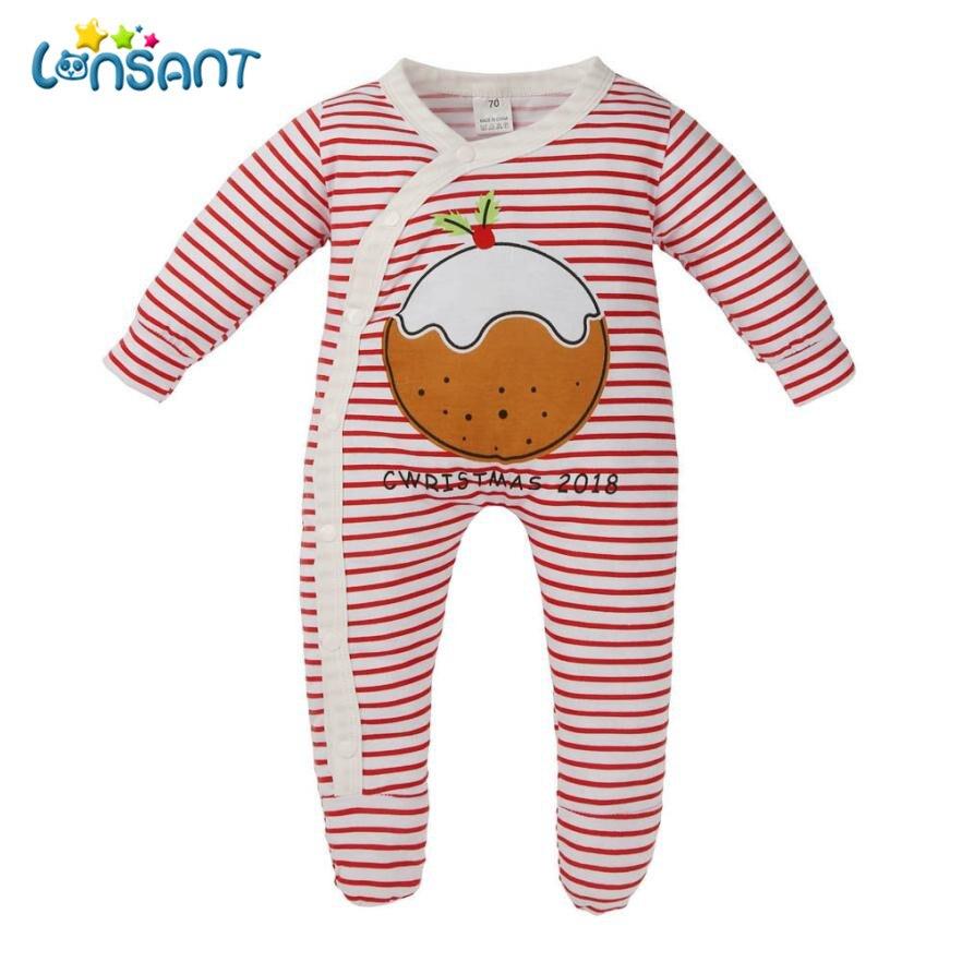 ba87fc5c50fc 2018 Newborn Baby Footies Infant Boys Body suits Fleece Cute ...