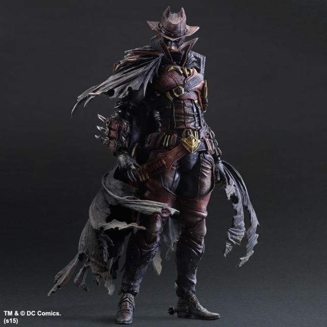 27CM Play Arts KAI DC Comics Variant Batman Timeless Wild West Red Ver. PVC Action Figure Collectible Model Toy the avengers infinity war batman arkham knight play arts kai 27cm bruce wayne dc comics pvc action figure model toys l1060
