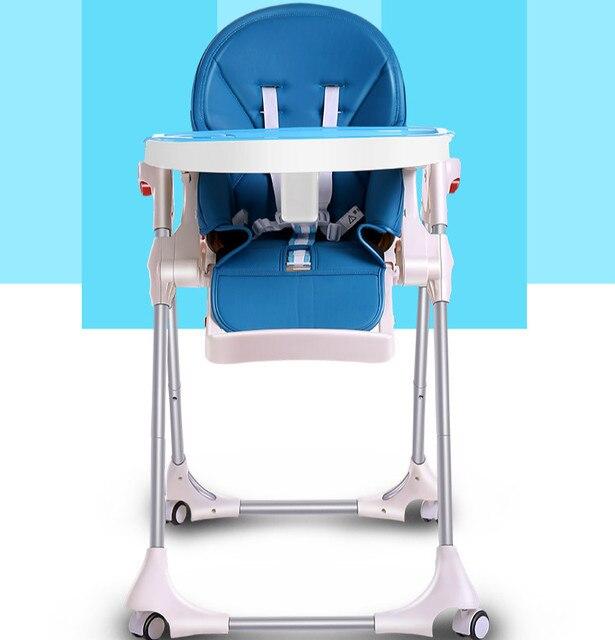 Новый Тип Детские Высокие Стулья Многофункциональный Ребенок Обеденный Стул Портативный Складной Стульчик Для Кормления Пластины Сиденья Регулируемое Кресло C01