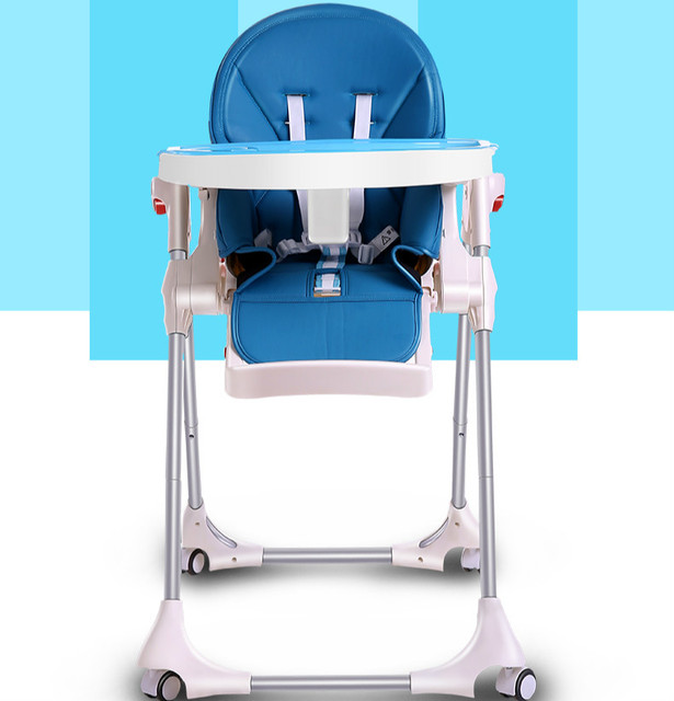 New Type Baby High Chairs Multifunctional Baby Dining Chair Portable Folding Baby Feeding Chair Plate Seat Adjustable Chair C01