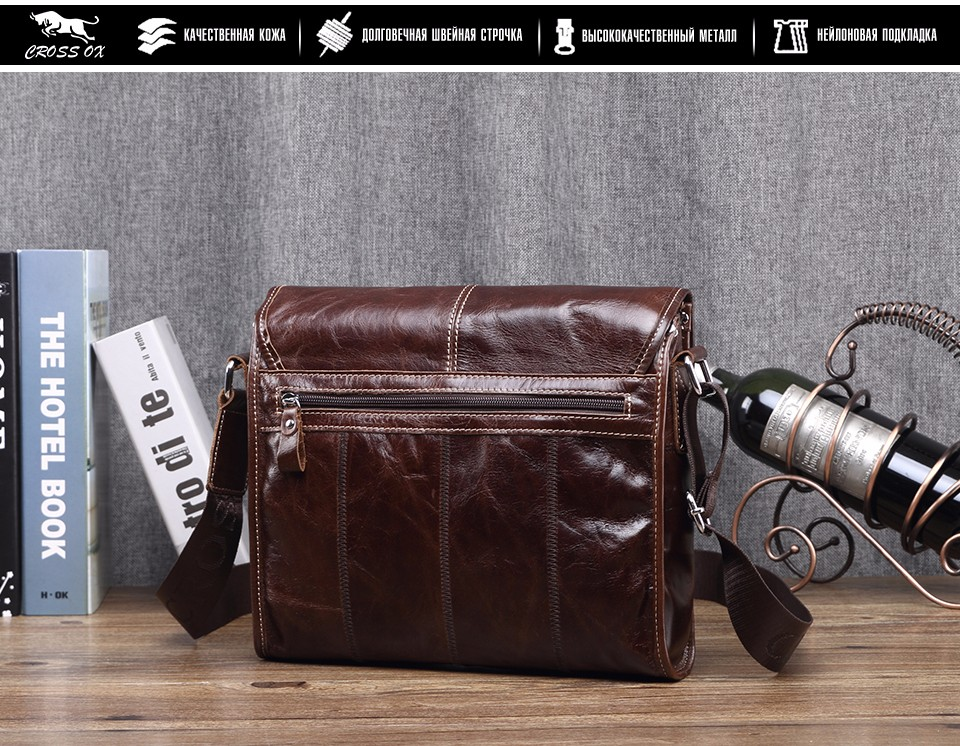 крест бык новый воск кожа серии сумка для мужчин сумка из натуральной кожи сумки на ремне сумки креста тела старинные сумка sl395m