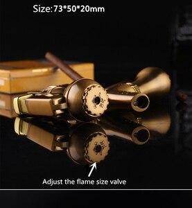 Image 3 - YENI Taşınabilir Kompakt Bütan Jet Çakmak Torch Turbo Çakmak Sabit Yangın Mini püskürtme tabancası Çakmak Rüzgar Geçirmez Metal 1300 C Yok Gaz