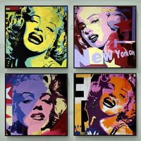 Free Shipping 100 Handpainted Modern Wall Art Abstract Pop Art Oil Painting Marilyn Monroe Decor Wall