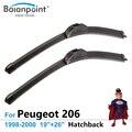 """Escovas para Peugeot 206 Hatchback 1998-2000 19 """"+ 26"""", conjunto de 2, melhor Auto Acessórios"""