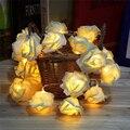 Bateria operado Novidade Rose Flor de Fadas Luzes Cordas 20 LEDs 2 M Moda Iluminação Do Feriado Festa de Casamento Decoração de Natal