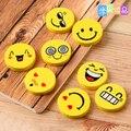 4 pcs/set Cute Kawaii Smiley Face Rubber Eraser for Kids Gift School Supplies Korean Stationery Material Escolar