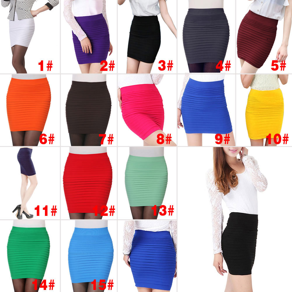 Womens Office Skirt Sexy Casual Skirt Pencil Skirt OL Midi Pencil High Waist Women Tight Office Party  Dg88