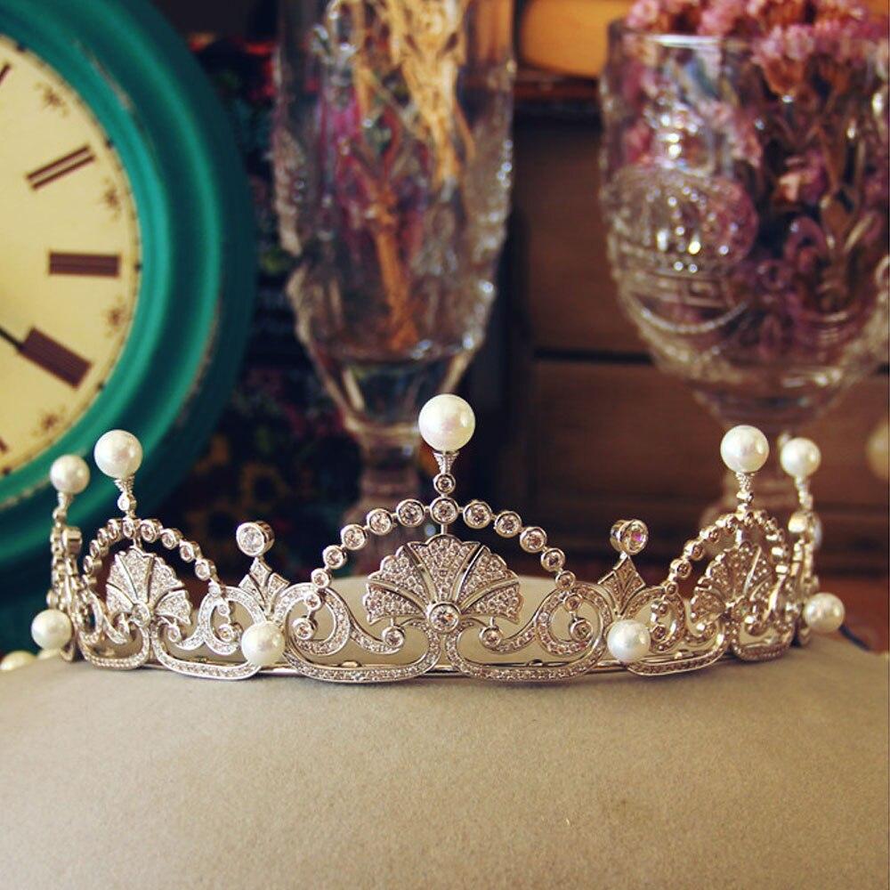 2017 Miss Univer Uk Royal Zircon Stones Crown Princess Kate Wedding