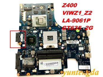 Original for Lenovo Z400 motherboard VIWZ1_Z2  LA-9061P  GT635 2G  tested good free shipping connectors