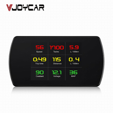 VJOYCAR OBD Smart Digital Meter Head Up Display HD Car HUD OBD2 On-Board Diagnostic Digital Display Speedometer RPM Tacho Fuel