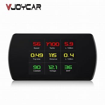 цена на VJOYCAR OBD Smart Digital Meter Head Up Display HD Car HUD OBD2 On-Board Diagnostic Digital Display Speedometer RPM Tacho Fuel