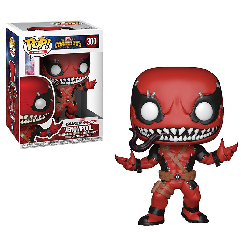 Funko pop official Marvel: Contest OF Champions - Venompool #300 Vinyl Action Figure Collectible Model Toy with Original Box