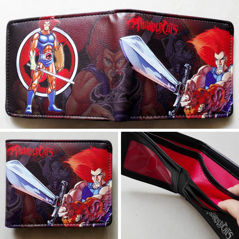 2018 Cartoon animation Thundercats Logo wallets Purse Multi 12cm Leather New Hot W117 2018 games pacman games logo wallets purse multi color leather new hot w199