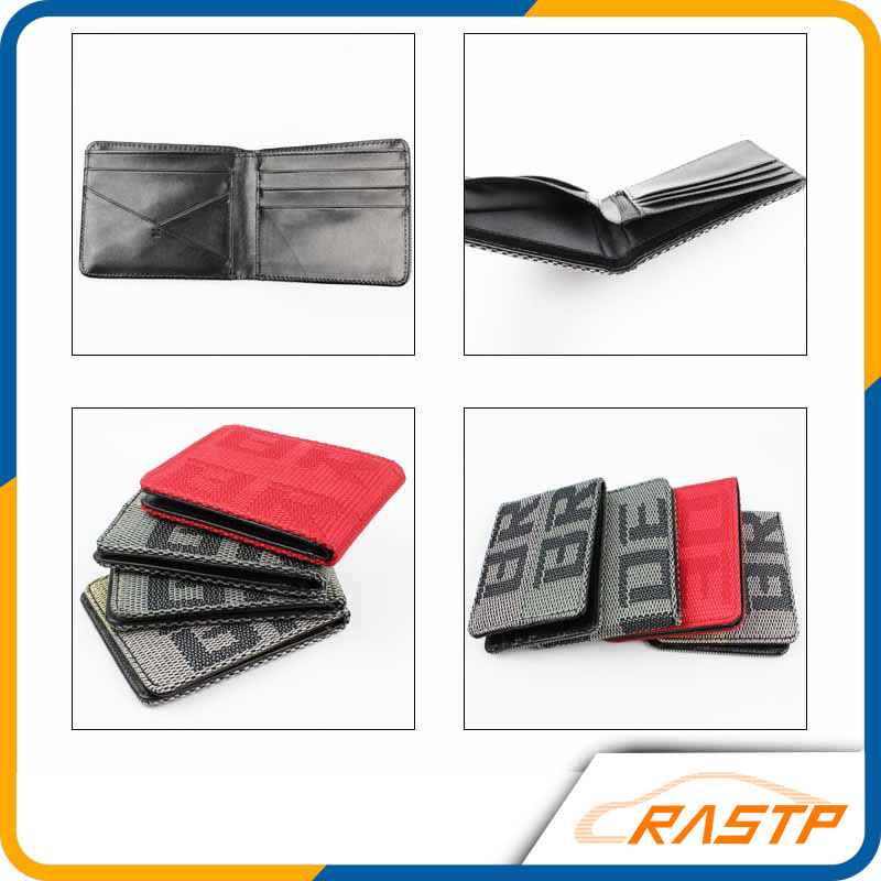 RASTP JDM Style 4 Styles Customized Bride Racing Fabric Wallet Money Clip RS-BAG001