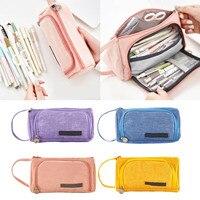 Kawaii Kleurrijke Grote Capaciteit Potlood Pen Case Bag Holder voor School Thuis Briefpapier Levert Studenten Kinderen Geschenken