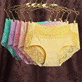 USKINCARE 3 Pieces/lot Women Seamless Panties Lace Female Ice Silk Breathable Brief sexy lingerie Ladies Underwear Panties 9887