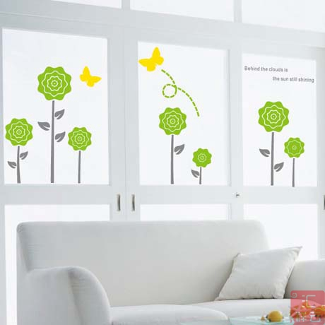 Lovely flower wall stickers glass stickers window stickers childrens room decoration stickers baby shop preschool kindergarten in wall stickers from home