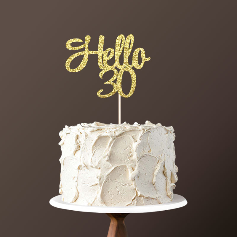 Hello 30 Cake Topper30th Birthday Party Decorations For Thirty