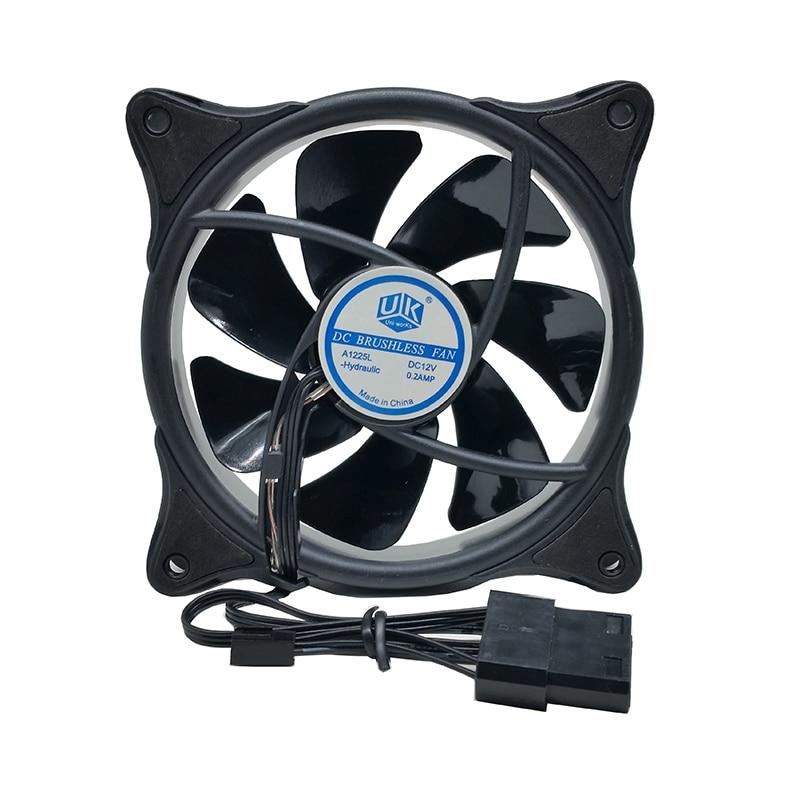 120mm 4colors 1500rpm ultra silent strong 12cm circle LED Fan  for Computer Case 12v  Multicolor  Cooler Fans