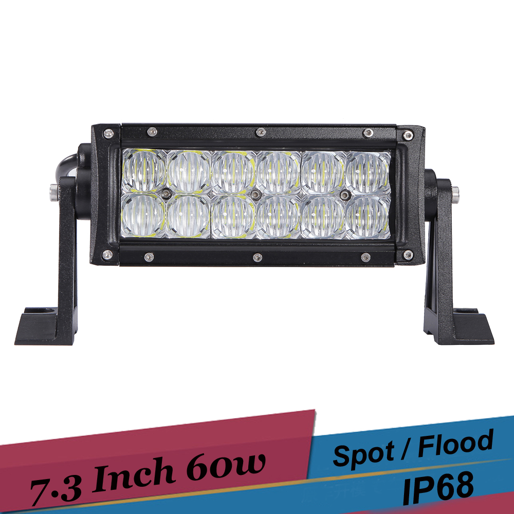 60W 7 Inch Offroad LED Work Light Fog Lamp Spot Flood SUV 4x4 Tractor Boat ATV Light Bar Driving Headlight for Ford F350 Fusion 2pcs 36w 7 led light bar spot beam offroad driving light 12v 24v 4x4 truck for atv spotlight fog lamp