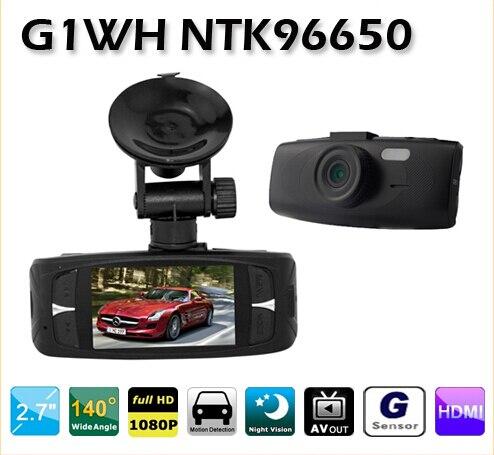 Meilleur DVR Caméra G1WH NTK96650 2.7 5.0MP COMS Voiture DVR 1080 p Novatek96220 lentille En Verre HD 1920*1080 p Grand Angle 140 Degrés