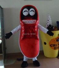 OISK Rot Freizeitschuhe Maskottchen Kostüm Halloween Weihnachten Party Versorgung phantasie kleid