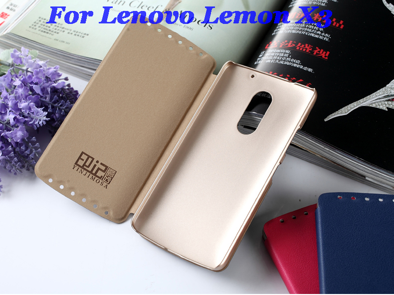 Italy High Quality Leather Case For Lenovo Lemon X3 Case Flip Cover For Lenovo Lemon X