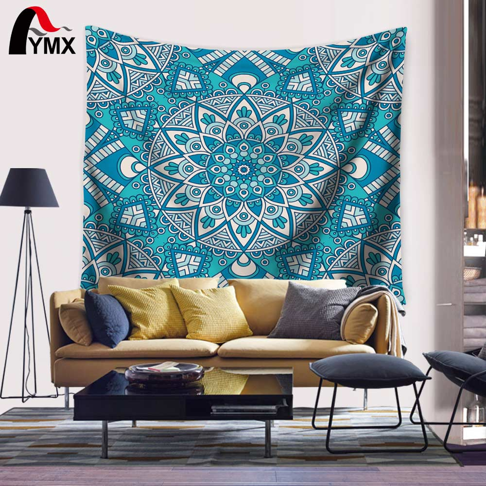 Boho Indisch Mandala Zigeuner Tapisserie Hippi Wandbehang Tagesdecke - Ev Tekstili