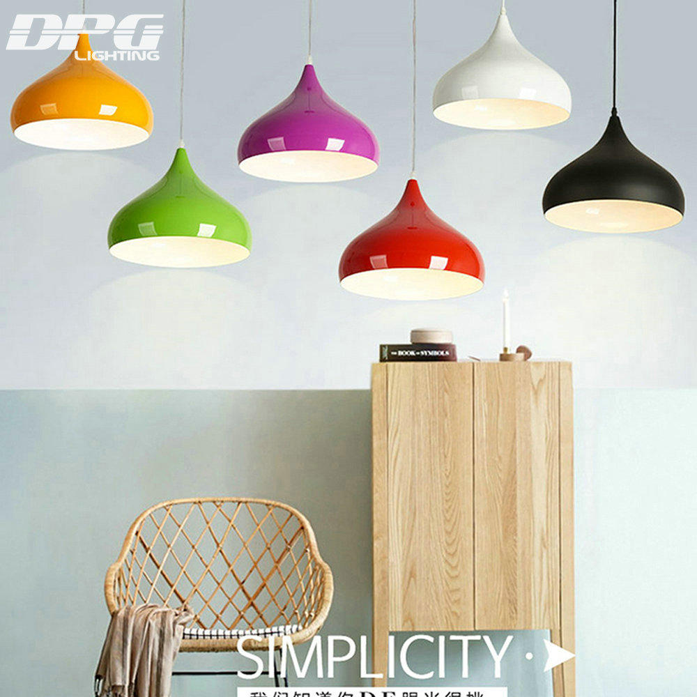 Modern Green Black Kitchen Led Hanging Lamp Pendant Lights Fixtures ...