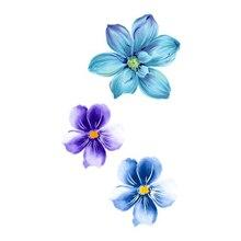 Wyuen Waterproof Temporary Tattoo Stickers For Adults Kids Body Art Fresh Tender Beautiful Flowers P-038 Fake Tatoo For Woman