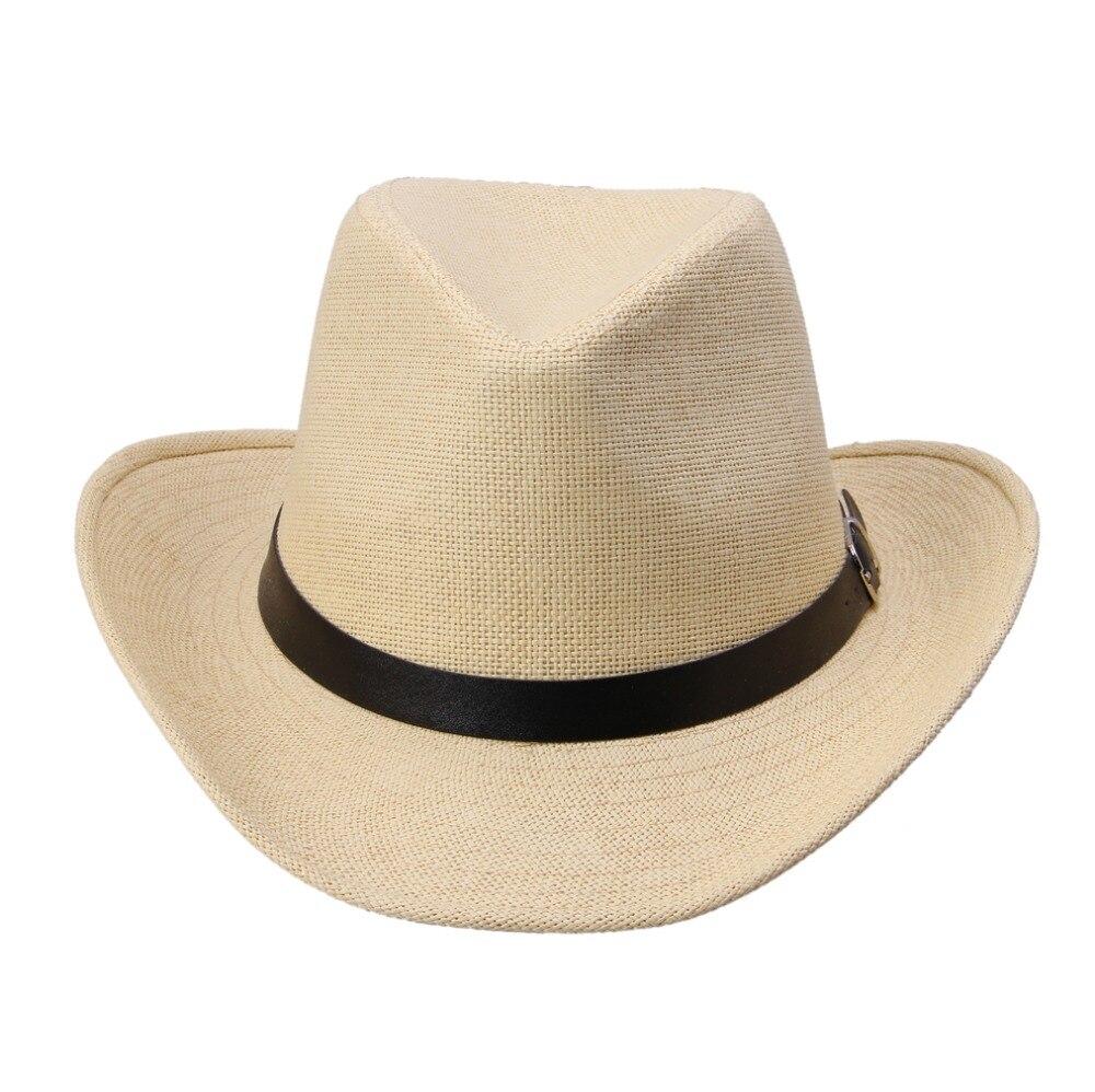 88ae2d5155dc2 LNPBD Kimisohand New Hot Fashion 6 Colors Summer Men Straw Hat Cowboy Hat  Men s Fashion Hot