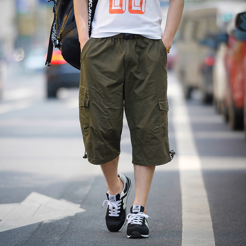 SexeMara 2017 Fashion Mens Pants Summer Style Mens Calf length Pants Hip Hop Loose Men Pants