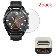 2pcs สำหรับ Huawei นาฬิกา GT GT2(46 มม.) /GT กระจกนิรภัยหน้าจอป้องกันฟิล์มป้องกันการระเบิด Anti shatter