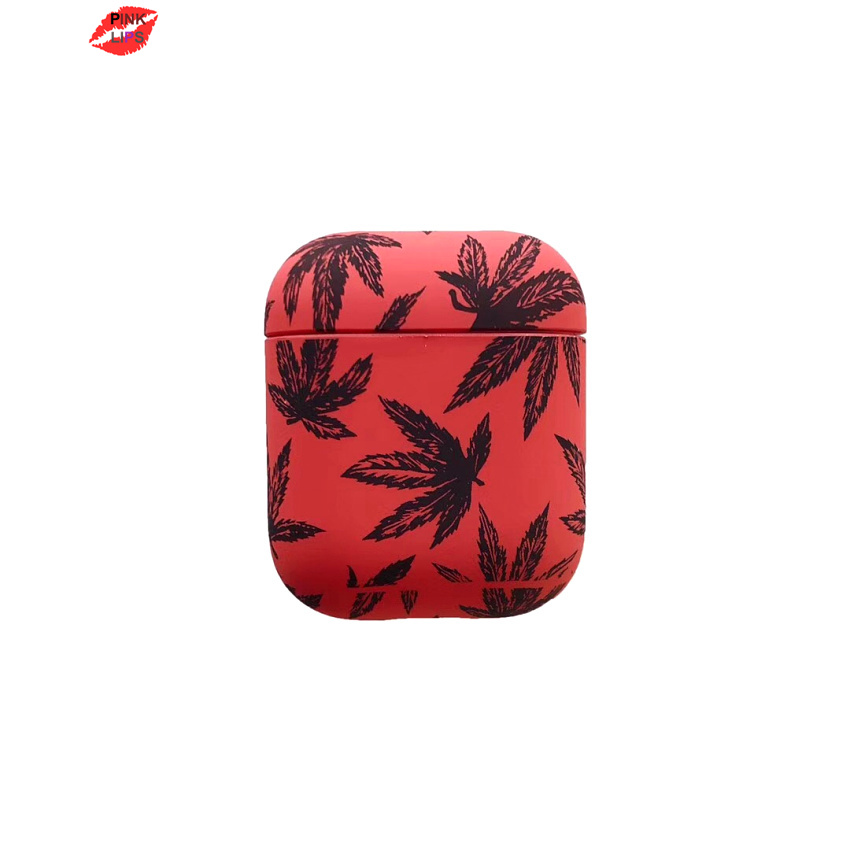 PINK LIPS Bluetooth Wireless Earphone Case For AirPods 1 2 Cover Skin Accessories for Apple Airpods Charging Box Cartoon shell