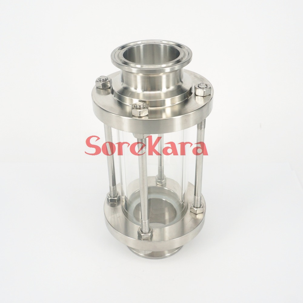 Fit 57mm 63mm Pipe OD 2.5 Tri Clamp SS304 Stainless Steel Sanitary Flow Sight Glass Dipoter Home brew wine цена