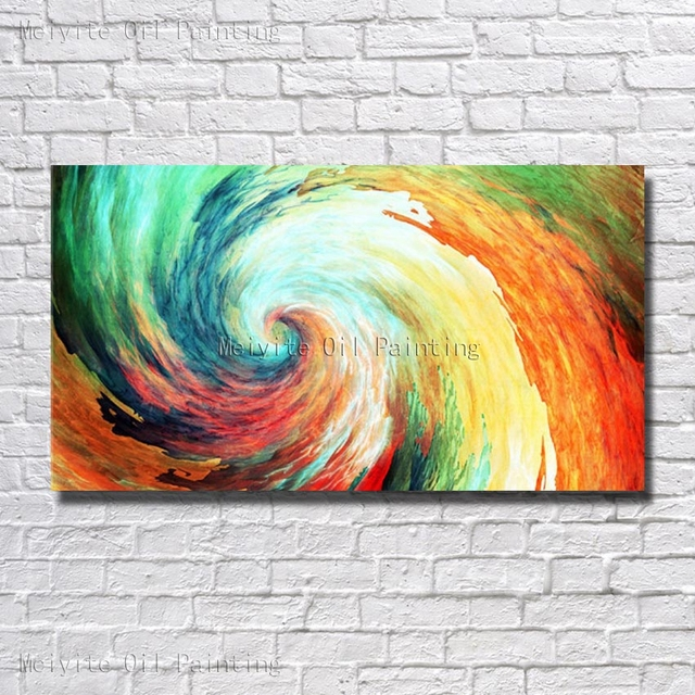 Pure Hand Painted Colorful Abstract Oil Painting On Canvas Beautiful Modern Home Decoration Picture