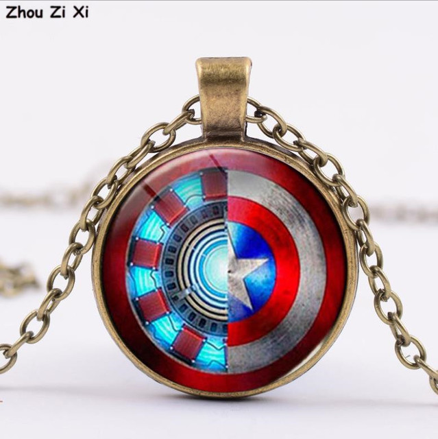 Avengers iron man heart time gem necklace Toys