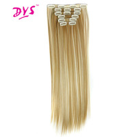 Deyngs Long Straight Women Hair Extension 24inch 60cm 160g 16clips In Hair Extension Synthetic Hairpiece Haistyle