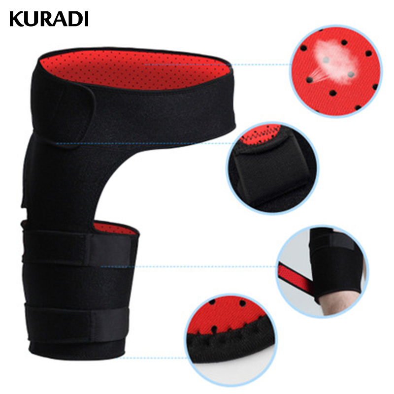 Adjustable Breathable Anti-muscle Strain Diaper Groin Support Compression Sport Thigh Waist Wrapped with Hip Stability Protector