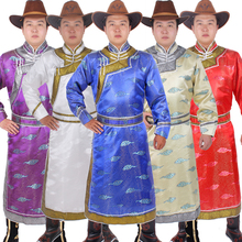 Ethnic clothing wedding party robe for men long mongolia clothes Chinese style n