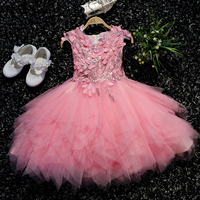 Toddler clothes baby flower girl dress for wedding kid prom party infant outfit princess party tutu dresses ball gown robe fille