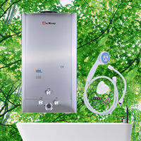 18 Litre 5GPM Instant Water Heater Boiler Tankless Digital Display LPG Propane GAS Force Exhaust
