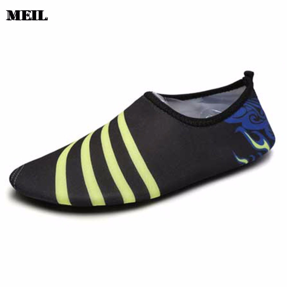 Men Barefoot Skin Sock Striped Shoes Beach Pool Footwear
