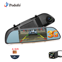Podofo 3G Wifi Car DVR 5 Dual Lens Camera FHD 1080P Registrar Android 5 0 Video