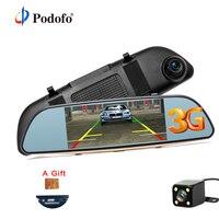 Podofo 3G Wifi Car DVR 5 Dual Lens Camera FHD 1080P Registrar Android 5 0 Video