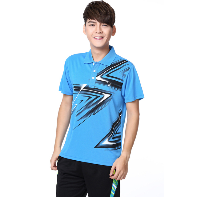 fb1e1414967 RACE WAY summer style men s tennis clothing   Badminton T-shirt   casual  clothes shirts tennis   ping-pong shirt + shorts 4XL