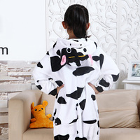 Fotografia Kid Chłopcy Dziewczyny Party Prezent Ubrania Kapturem Piżamy Pijamas Piżamy Flanelowe Piżamy Dla Dzieci Cartoon Zwierząt Krowa Cosplay